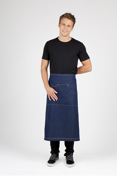 AP702L Denim Full Length Apron