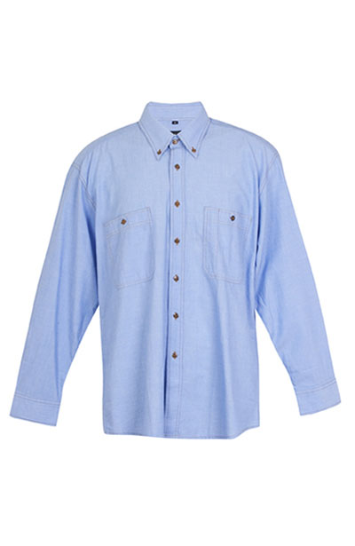 B285LS Men's Long Sleeve Chambray Shirt
