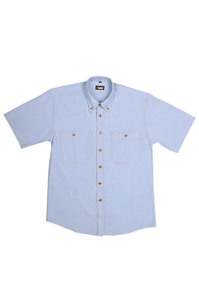 B285SS Men's Short Sleeve Chambray Shirt