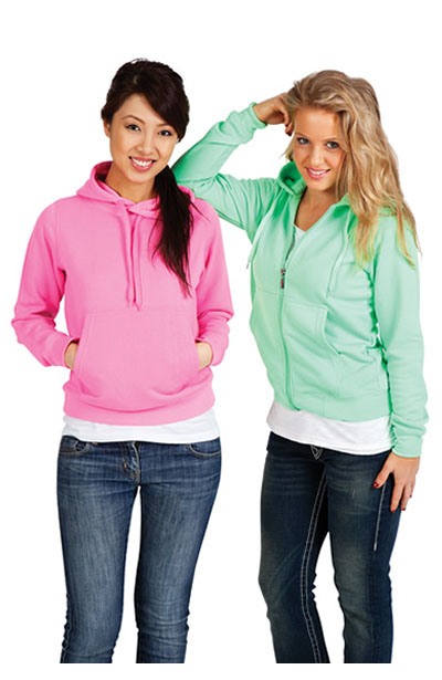 F200ZZ Ladies/Junior Zip Fluoro Hoodie