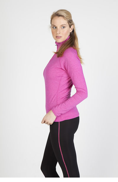 F389LD Ladies Greatness Half Zip Mock Neck