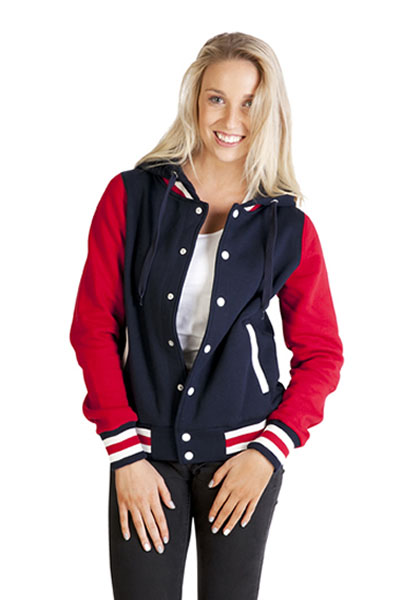 FB97UN Ladies Varsity Jacket & Hood