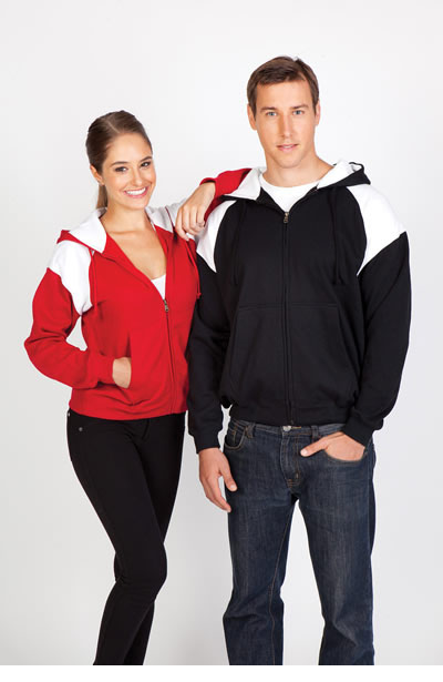 FZ33UN Ladies/Junior Shoulder Contrast Zip Hoodie