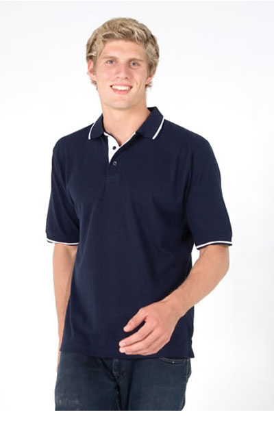 P712HS Men\'s Single Stripe Trim Polo