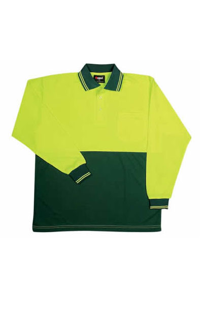 PS101L Hi Vis Long Sleeve Polo