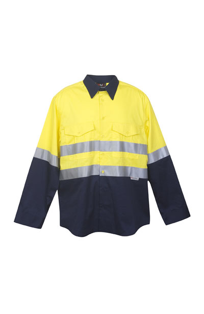 S007LP 100% Combed Cotton Drill Long Sleeve Shirt - 3M