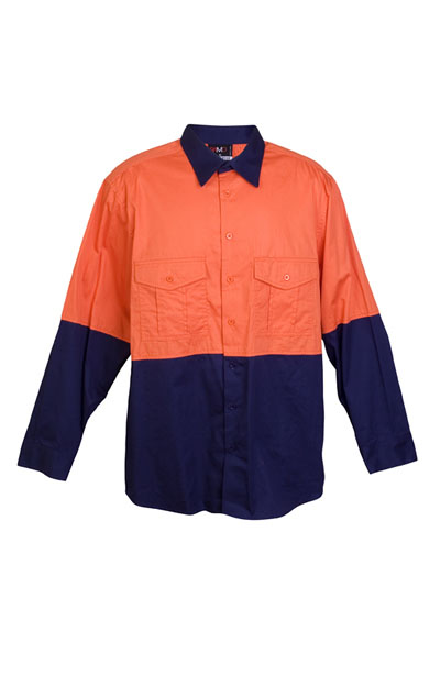 S007ML 100% Combed Cotton Drill Long Sleeve Shirt