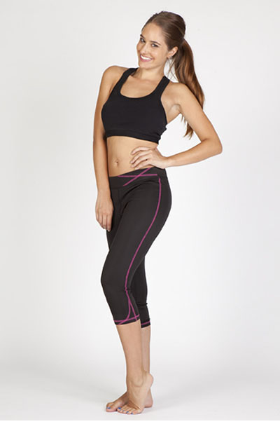 S505LD Ladies Contrast Stich Legging