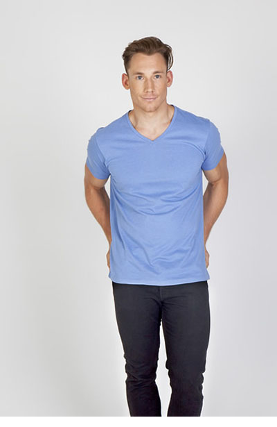 T903TV Men\'s Marl V-Neck T-Shirt