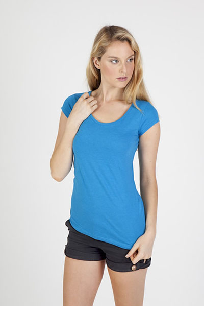 T938LD Ladies Marl Scoop Neck T-Shirt